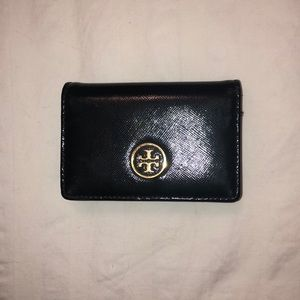 Tory Burch black, patent wallet